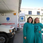Becca and Kourtney, outside the Centro de Salud, on the day that we arrived.