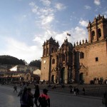 An afternoon view of Cusco's main cathedral.