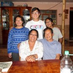 James with his host family in San Jeronimo.