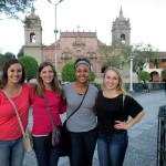 In the main plaza, or plaza de armas.