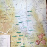 A map of the Chanchamayo area inside our chifa restaurant.