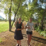Anna and Claire have used the park for a daily run.