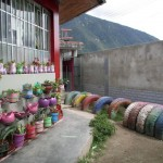 The school makes good use of many recycled materials.