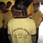 "The uniform worn by the Tres Reyes children, ""Think, Feel, Do"" is their moto."