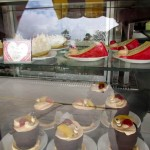 A few of the many desserts available in the Feliz Dia display case.