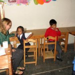 Anna at the Compassion after school program.