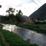 The Huancabamba River runs along the edge of the city.