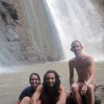 Jess, Josh and Michael at one of many area waterfalls.
