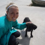 Kourtney has a heart for the local dogs, which roam freely in and out of the Centro de Salud.