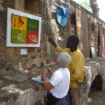 Art exhibit in an old fort in Thies.