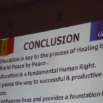 Education linked to Peace by Peace