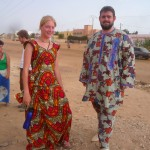 Kristen and Aaron in Senegalese dress