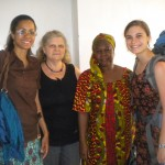 Lydia with host mother Marième and local coordinators