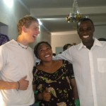 Billy with host mother N'Dèye Astou Cissé and uncle/brother