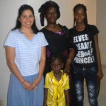Jessica with mother Rokhaya Dione and two sisters