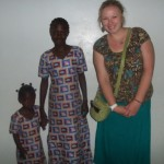 Erin with two of her sisters from Famille Ndione