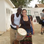 Kate and our djembe instructor