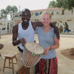Laurel and our djembe instructor