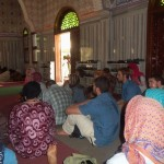 Sitting in a mosque