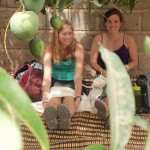 Karin and Ali under the mango tree