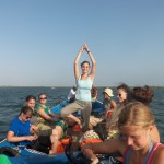 Lydia - a little yoga at sea