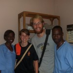 Lynn and Matt with two of their colleagues from the clinic