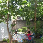 The kids' outdoor classroom