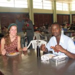 Eating at the University of Dar es Salaam cafeteria