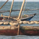 Fishing boats in Bagamoyo