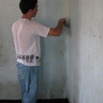 We helped paint a classroom at the church