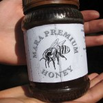 Example of honey sold from the beekeepers association