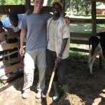 Matt with Richard, one of the employees of the farm