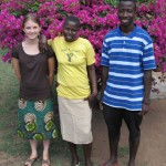 Leah with brother, Nyamusi (GC Grad), and house help