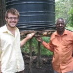 David's irrigation system with his supervisor, Pastor Magoto