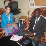 Laura with her host father, Dr. Juma Karamba