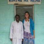 Laura with Dr. Makoni