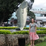 "A photo at the famous ""fish"" roundabout"