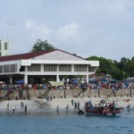 The fish market in Dar es Salaam