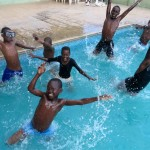Swimming with Pastor John Wambura's children