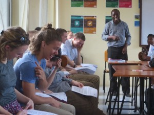 A lighter moment in Swahili class