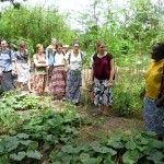 Women from RESEWO showing us their garden