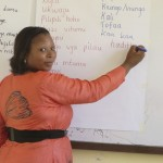 Beatrice, one of our Swahili teachers