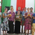 Saying thanks via song at Upanga Mennonite Church