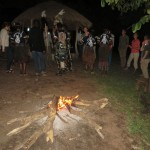 The traditional fire starting dance