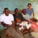 Jordan and the Magoti brothers (his Baba and Mama are closest to him)
