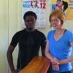 Twila with her colleague at the IMARA reception desk.