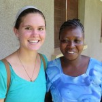 Alicia with Elizabeth - the college secretary and a great friend to Alicia.
