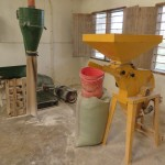 The school runs a corn grinding mill to create corn flour for the community.