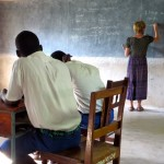 Bri teaching deaf students in Musoma