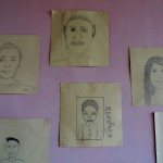 Student self-portraits
